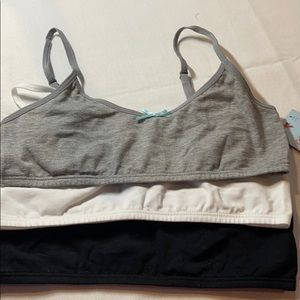 3 pack small cropped bras